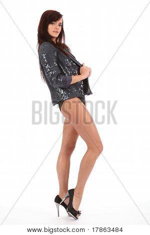 Show girl high heels and jacket