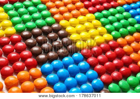 Delicious colorful candies background