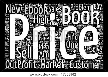 How to Market and Price Your Ebook Word Cloud Concept Text Background
