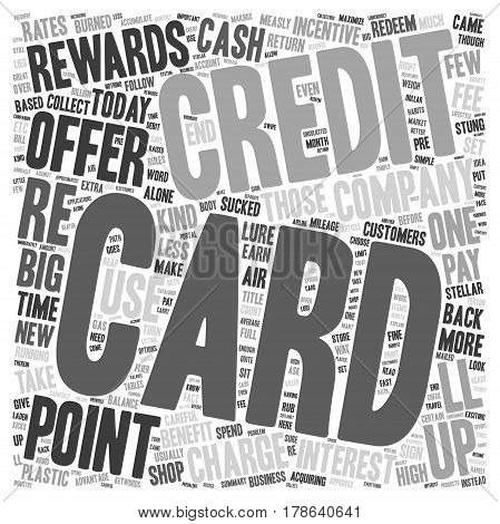 How To Maximize Your Credit Card Rewards text background wordcloud concept