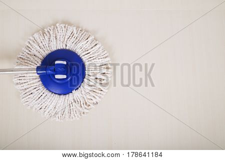 Mop For Cleaning With Floor Background