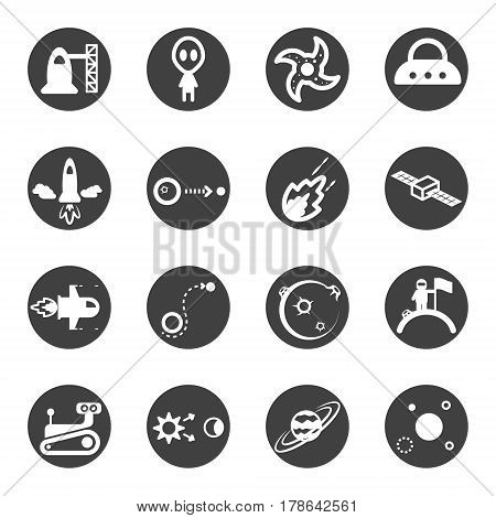 space universe star icon set vector .