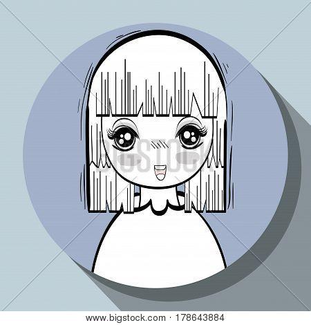 anime nice tender woman, vector illustration design