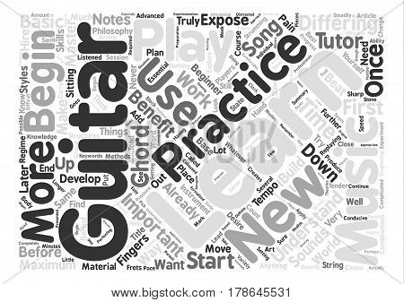 How To Practice Guitar Word Cloud Concept Text Background