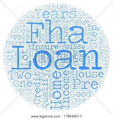 How To Pre Qualify For An FHA Home Loan text background wordcloud concept