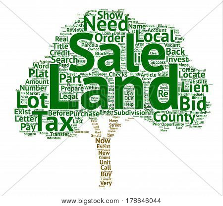 How to Prepare for a Land Tax Sale Word Cloud Concept Text Background