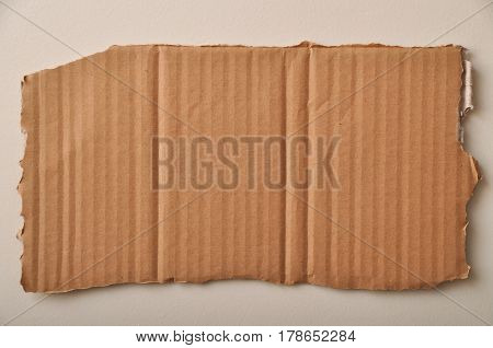 A corrugated cardboard, with all the details