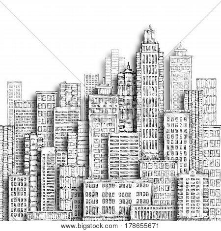 City Hand Drawn Illustration