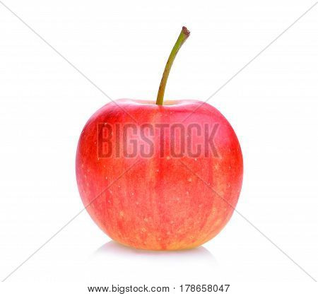 red dwarf apple isolated on white background