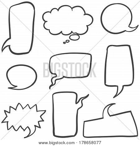 Set of speech bubble collection stock vector illustration