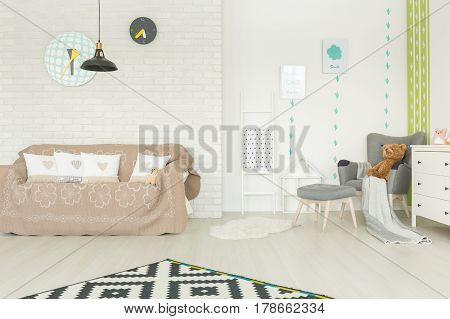 Modern Child Room With Couch
