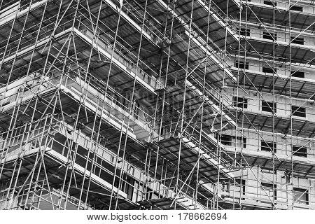 Modern Block Of Flats Is Under Construction