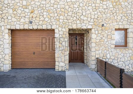 Home Entrance And Garage