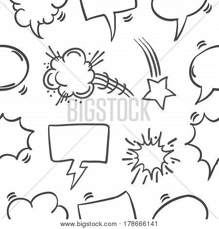 Collection stock of speech bubble pattern vector art