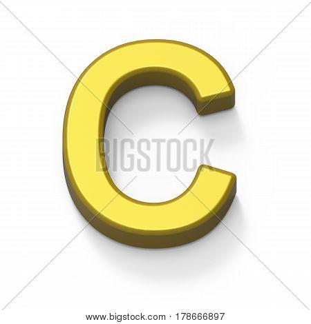 Matte Gold Font C
