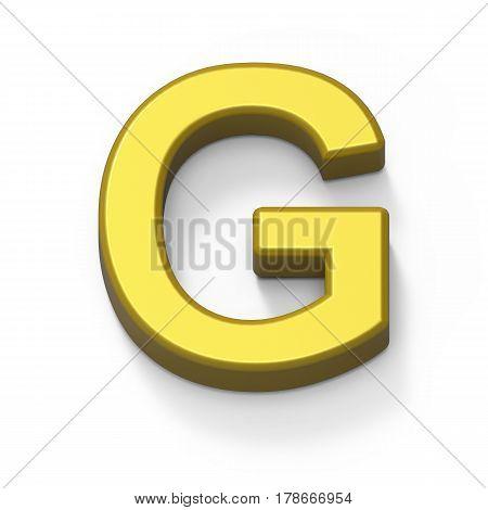 Matte Gold Font G