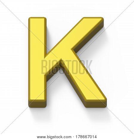 Matte Gold Font K