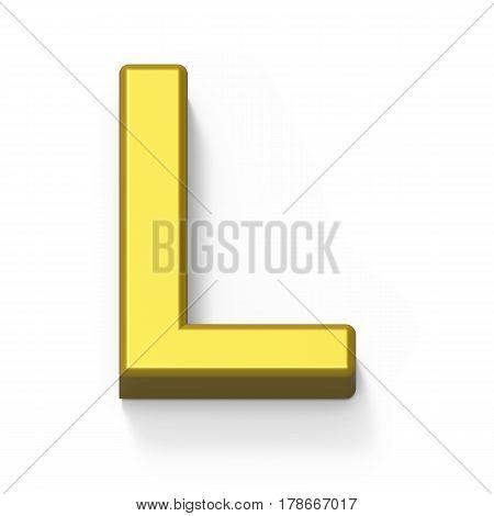 Matte Gold Font L