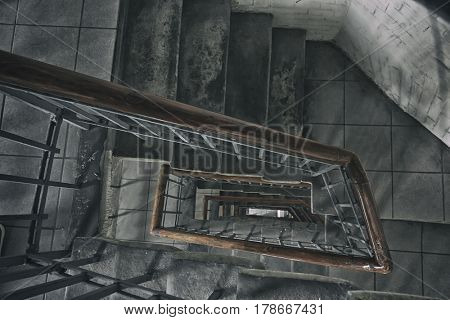Very old and grunge stone stairs