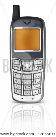 silver Cel phone