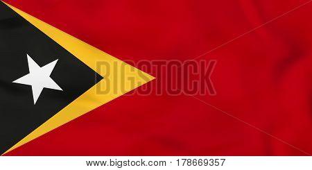 East Timor Waving Flag. East Timor National Flag Background Texture.
