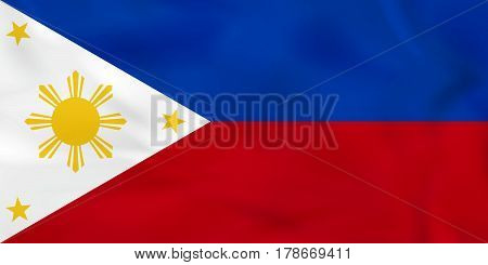 Philippines Waving Flag. Philippines National Flag Background Texture.