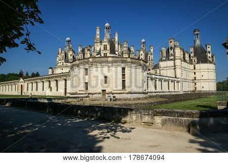 Image of beautiful Chambord castle at France
