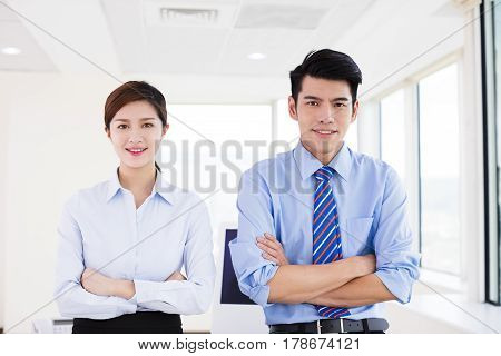 young asian Business people standing in office