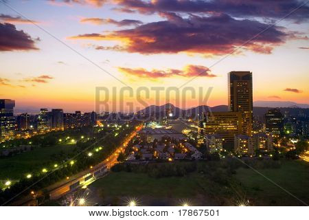 Santiago de Chile from Manquehue street