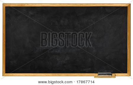 Blank chalkboard with eraser