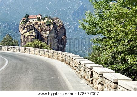 Road to Holy Trinity Monastery. Meteora Greece.