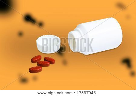 Dangerous drugs and bottle isolated with clipping path.