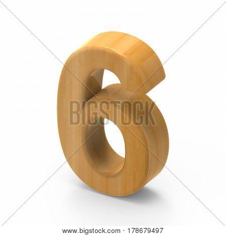 Wooden Grain Number 6