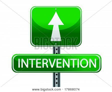 intervention street sign
