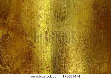 Old golden wall with smooth surface for background.
