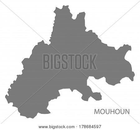 Mouhoun Burkina Faso Province Map Grey Illustration Silhouette