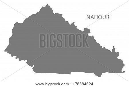 Nahouri Burkina Faso Province Map Grey Illustration Silhouette