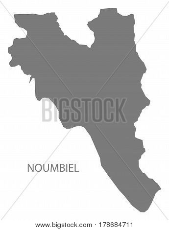 Noumbiel Burkina Faso Province Map Grey Illustration Silhouette