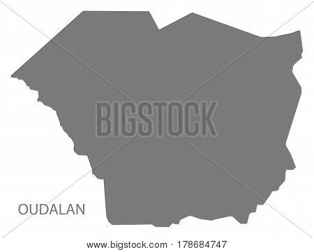 Oudalan Burkina Faso Province Map Grey Illustration Silhouette