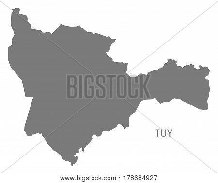 Tuy Burkina Faso Province Map Grey Illustration Silhouette