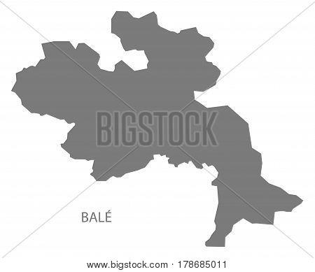 Bale Burkina Faso Province Map Grey Illustration Silhouette