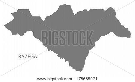 Bazega Burkina Faso Province Map Grey Illustration Silhouette