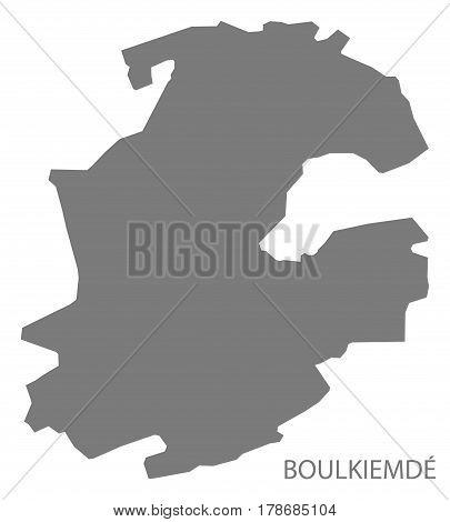 Boulkiemde Burkina Faso Province Map Grey Illustration Silhouette