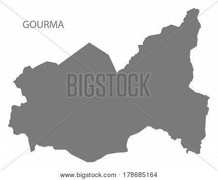 Gourma Burkina Faso Province Map Grey Illustration Silhouette