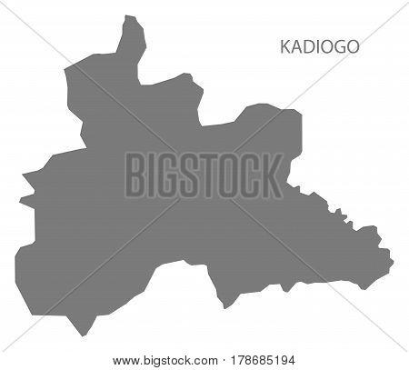 Kadiogo Burkina Faso Province Map Grey Illustration Silhouette