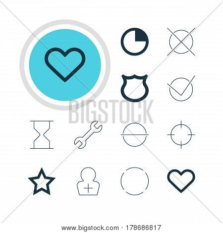 Vector Illustration Of 12 Member Icons. Editable Pack Of Stopwatch, Remove, Wrench And Other Elements.