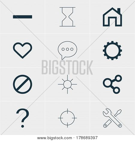Vector Illustration Of 12 User Icons. Editable Pack Of Access Denied, Mainpage, Publish And Other Elements.