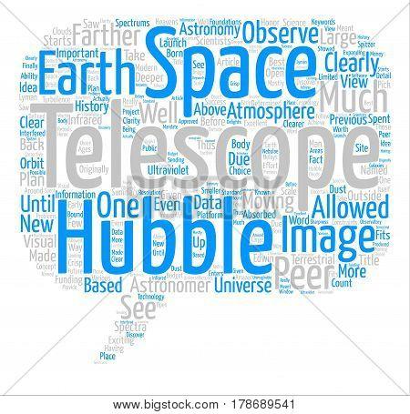 Hubble Telescope text background word cloud concept