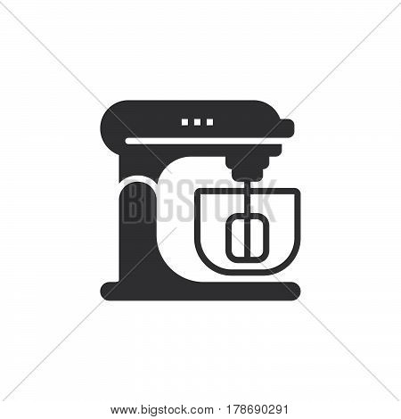Stand Mixer icon vector solid flat sign pictogram isolated on white logo illustration