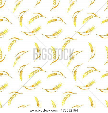 Hand drawn bakery background. Whole grain, natural, organic background for bakery package, bread products.